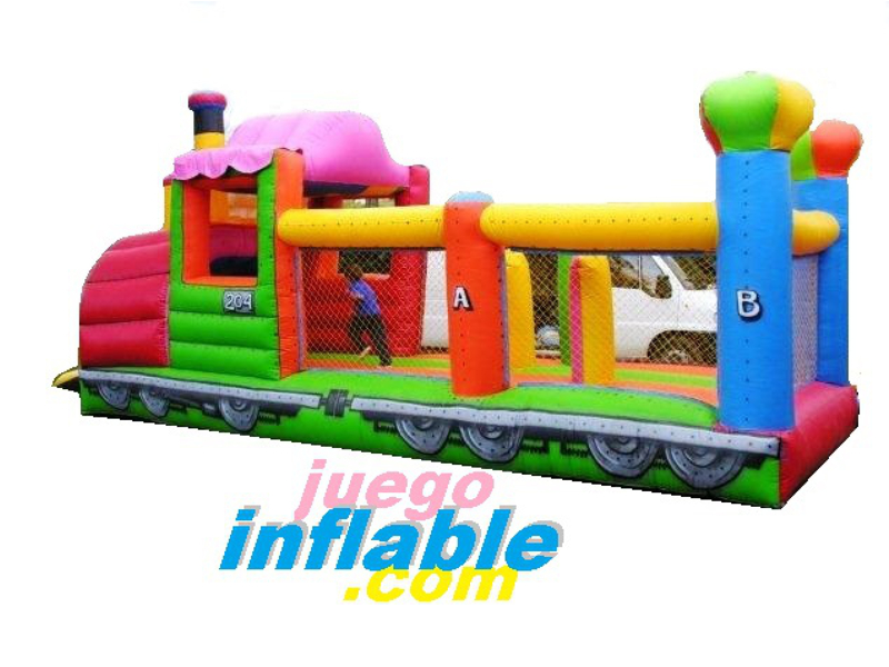 Tren Inflable Obstaculos